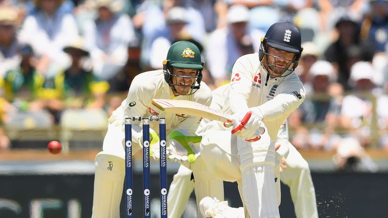Mark Stoneman of England bats during day one of the Third Test match of the 2017/18 Ashes Series