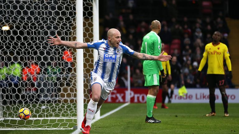 Aaron Mooy doubles Huddersfield's lead at Vicarage Road