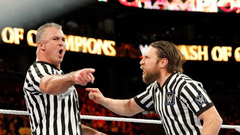 Shane McMahon and Daniel Bryan adopted very different approaches to their refereeing
