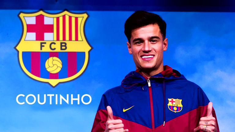 Coutinho signed for Barcelona from Liverpool for £146m on Monday