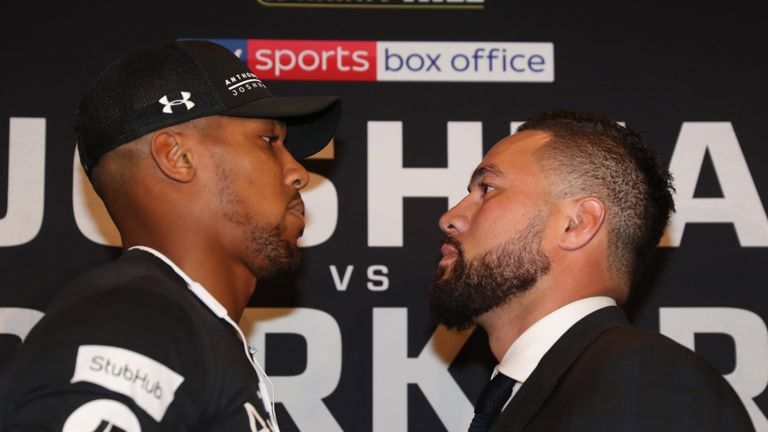 Joshua faced Parker in front of the watching media
