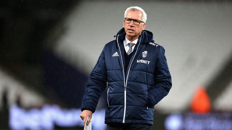 Alan Pardew will be looking for his first Premier League win as West Brom boss when they host Brighton this weekend
