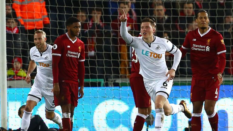 Alfie Mawson struck the winner against Liverpool on Monday