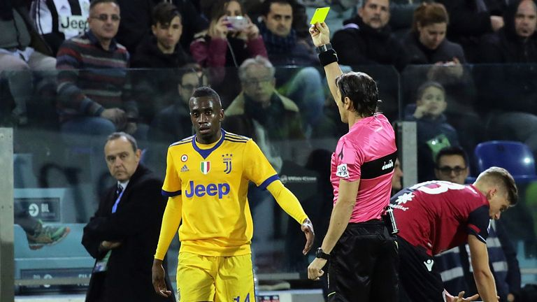 Juventus's Matuidi says he was racially abused at Cagliari