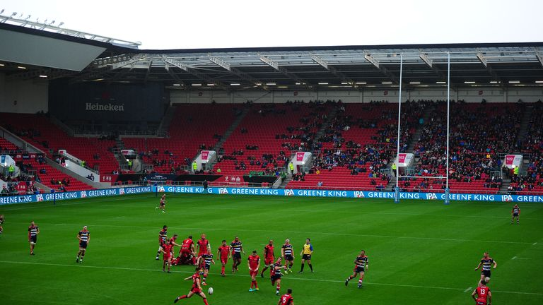 Bristol Rugby play at Ashton Gate