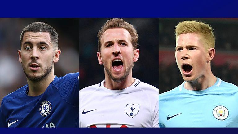 Chelsea's Eden Hazard, Tottenham's Harry Kane and Man City's Kevin De Bruyne all earned praise