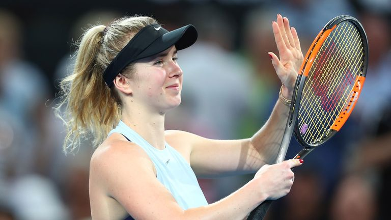 Elina Svitolina of Ukraine will face Johanna Konta next