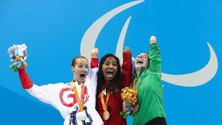 Ellen (right) won bronze in the 100m breaststroke in Rio in 2016