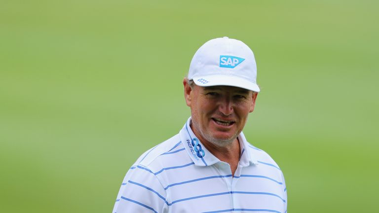Tournament host  Ernie Els opened with a 71
