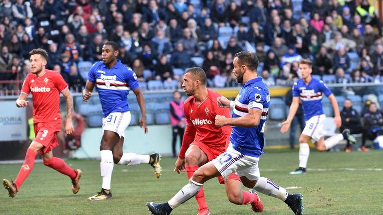 Fabio Quagliarella scored a hat-trick for Sampdoria