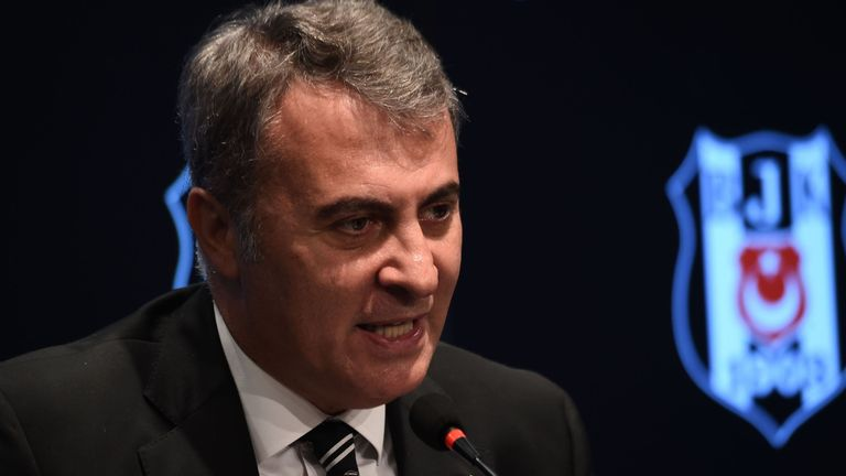 Besiktas president Fikret Orman says negotiations are ongoing with Everton