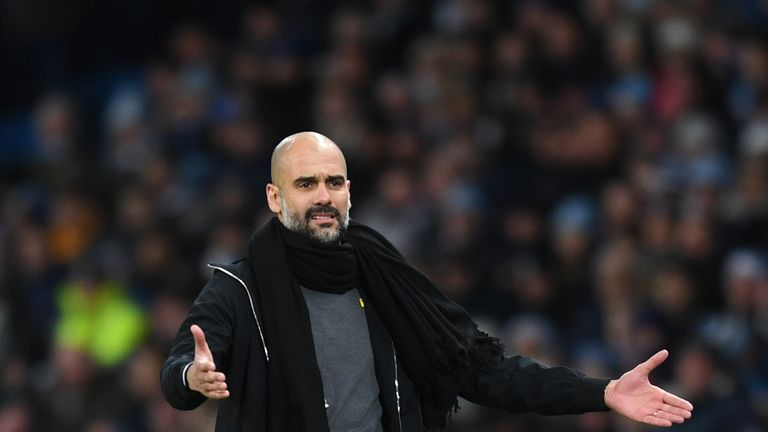 Guardiola takes his side to Wigan in the FA Cup on Monday
