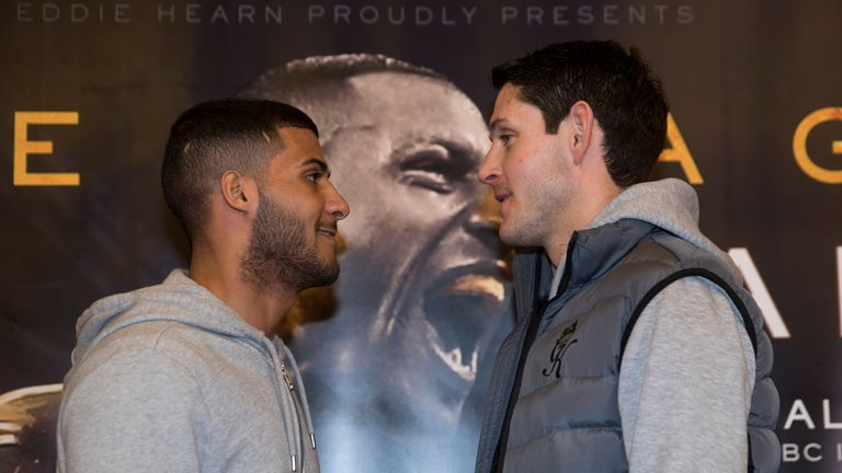 Gavin McDonnell (right) faces Gamal Yafai on the Kell Brook undercard this Saturday, live on Sky Sports