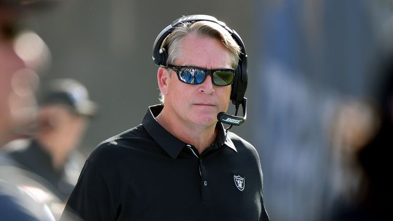 Raiders head coach Jack Del Rio has been shown the door after a disappointing year in Oakland