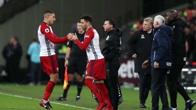 Jake Livermore was involved in a bust-up with fans after being substituted against West Ham