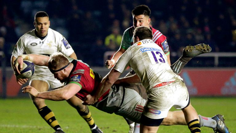 James Chisholm scores the last-minute winner for Quins