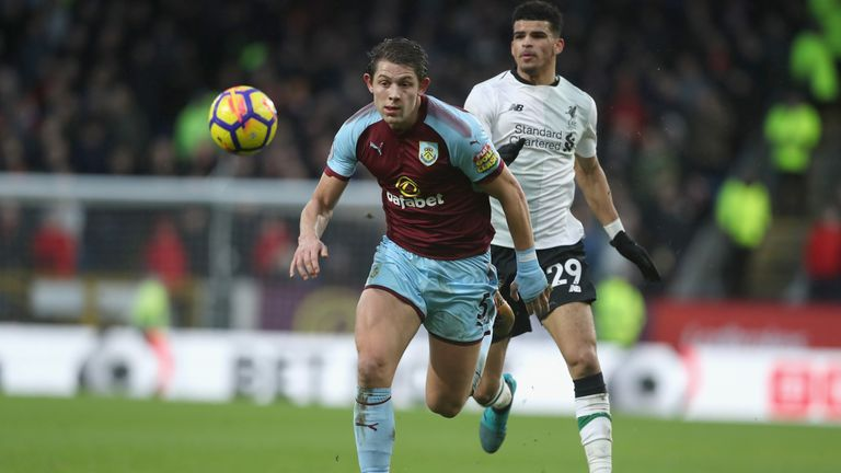 Tarkowski has been an impressive performer for Burnley this season