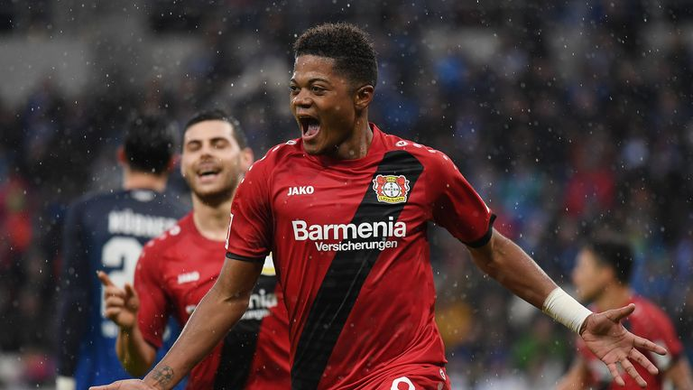 Leon Bailey scored a fine goal for Leverkusen