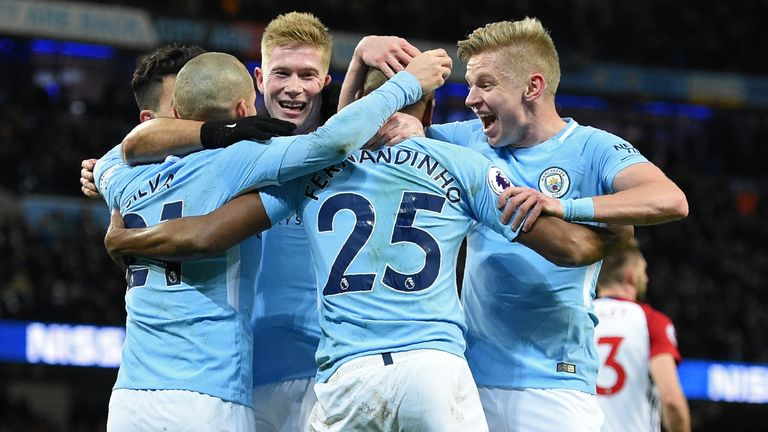Man City moved 15 points clear at the top of the Premier League table