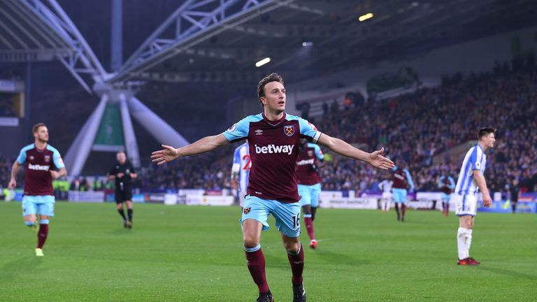 Mark Noble fired West Ham in front after a defensive mix-up
