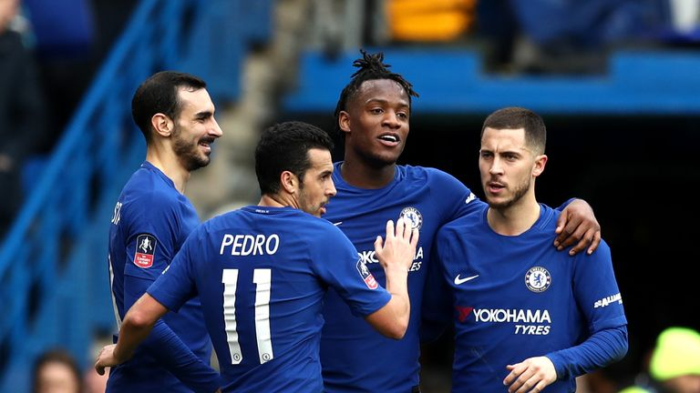 Chelsea eased into the fifth round of the FA Cup