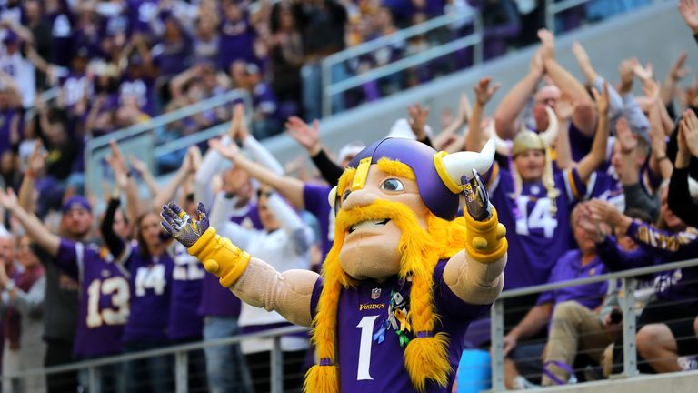 Viktor the Viking will look to keep the noise levels high for the Minnesota defense on Sunday