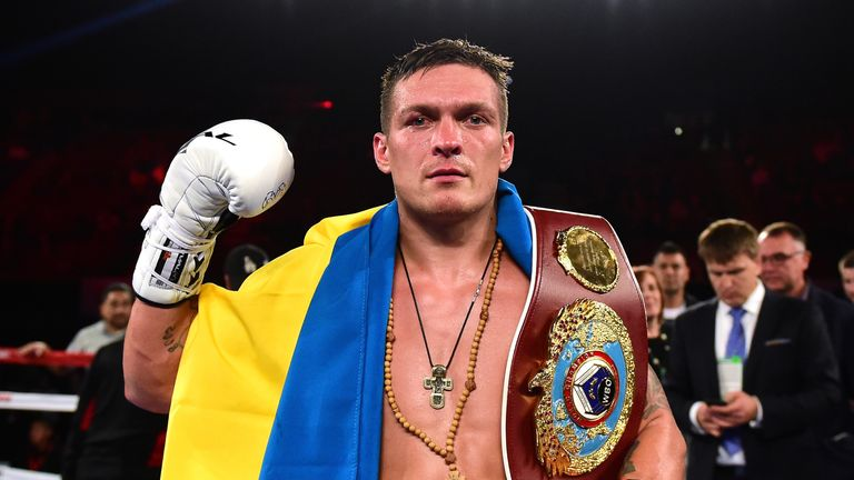Oleksandr Usyk is in the delayed World Boxing Super Series final