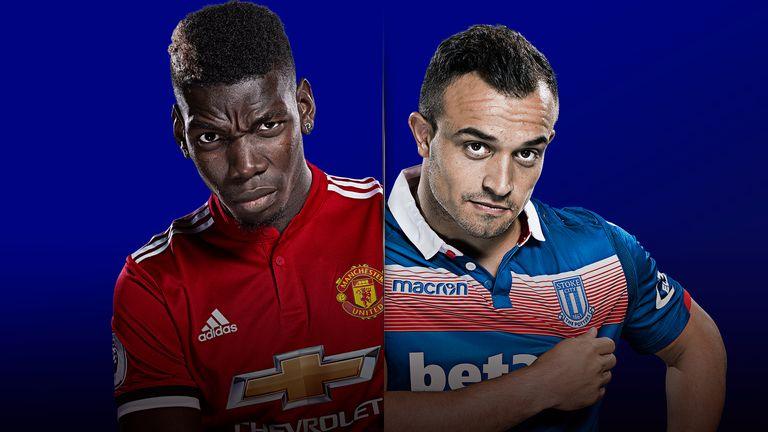 Manchester United host Stoke City on MNF, a match you can see live on Sky Sports Premier League