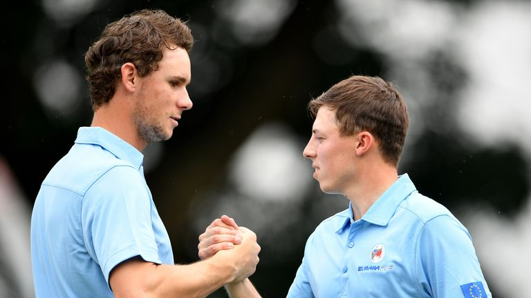 Matthew Fitzpatrick and Thomas Pieters recorded an impressive win
