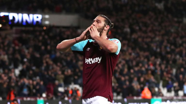 Andy Carroll is out to start against Tottenham