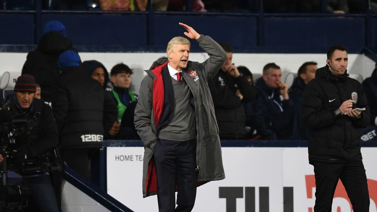Arsene Wenger starts a touchline ban in the FA Cup
