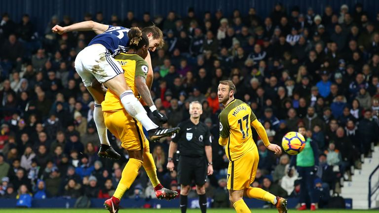 Dawson headed in West Brom's second goal