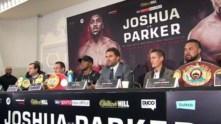 Anthony Joshua dismisses Joseph Parker's doping accusations ahead of unification bout