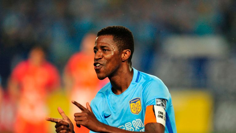 Ramires has been playing for Jiangsu Suning in the Chinese Super League since January 2016