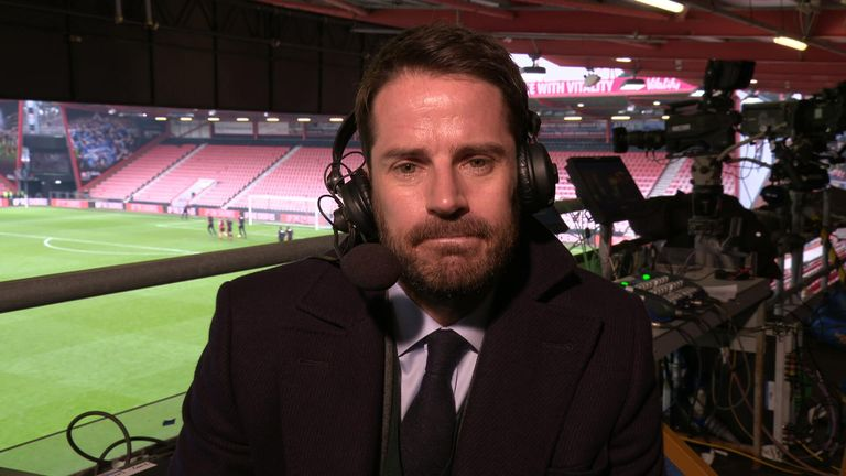 Jamie Redknapp was at the Vitality Stadium to see Bournemouth beat Arsenal