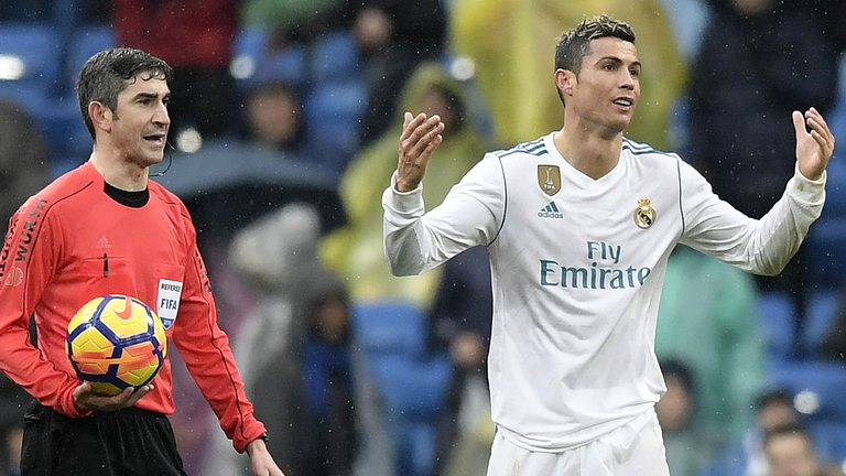 Cristiano Ronaldo was denied a penalty against Villarreal