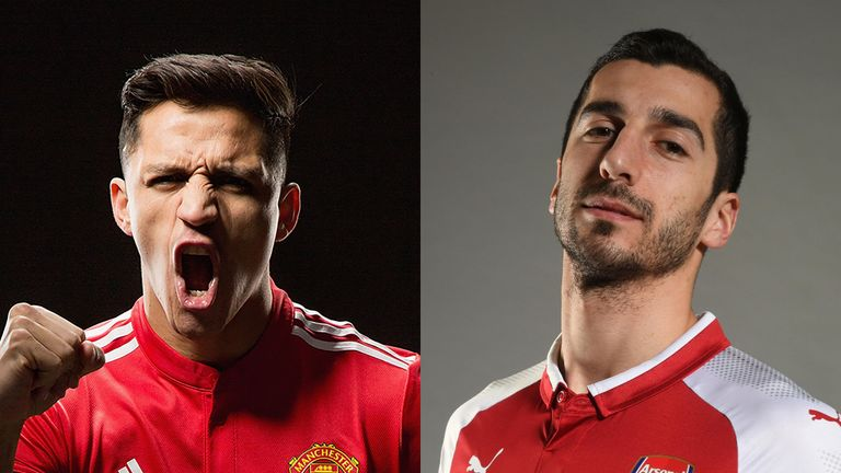 Mkhitaryan joins Arsenal as Alexis Sanchez moves to United where he will wear the No 7 shirt