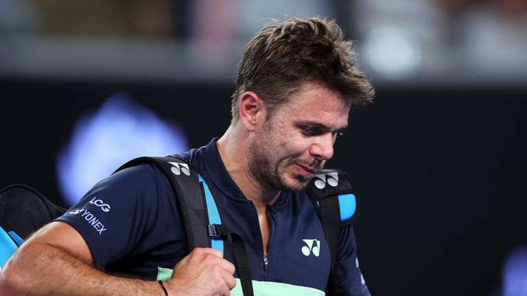 Stan Wawrinka slipped to a shock defeat in Rotterdam