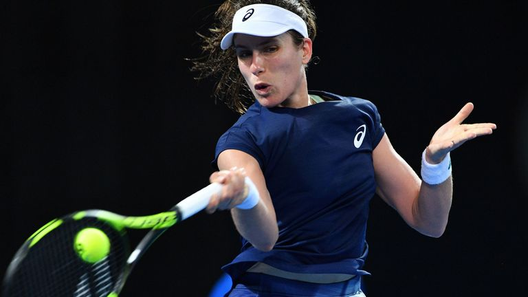 Johanna Konta opened her Qatar Open campaign with a straight-sets success