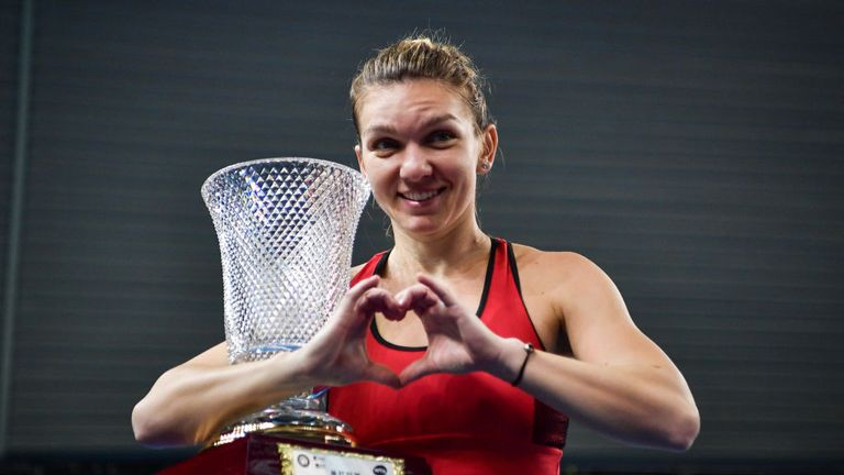 Halep opened her season with the Shenzhen Open title