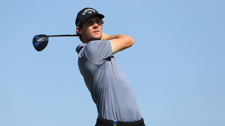 Thomas Pieters remained at the top of the leaderboard throughout the day