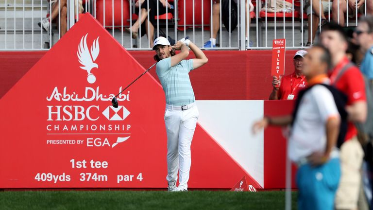 Tommy Fleetwood shares the lead after the first day in Abu Dhabi