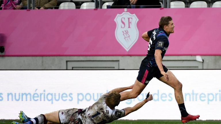 Stade Francais full-back Tony Ensor was in searing form over the weekend