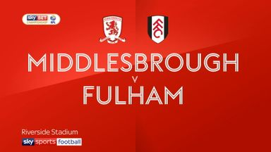 Middlesbrough 0-1 Fulham