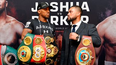 Anthony Joshua shared the stage with Joseph Parker at first press conference