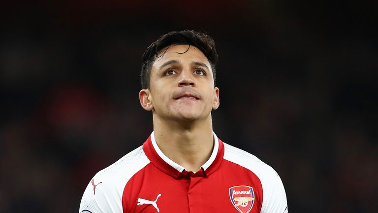 Alexis Sanchez during the Premier League match between Arsenal and Chelsea at Emirates Stadium on January 3, 2018