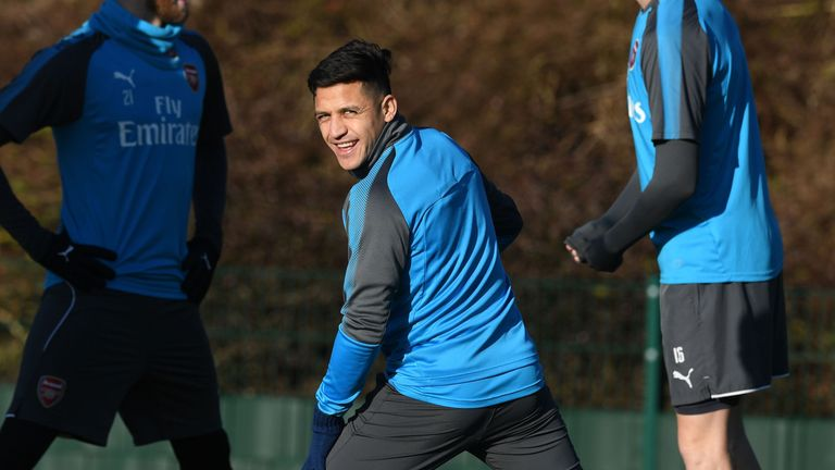 Alexis Sanchez trained with Arsenal on Friday