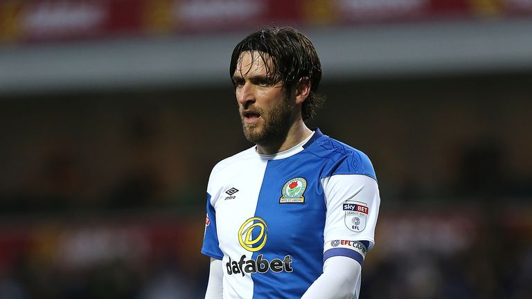 BLACKBURN, ENGLAND - JANUARY 27:  Danny Graham of Blackburn Rovers in action during the Sky Bet League One match between Blackburn Rovers and Northampton T