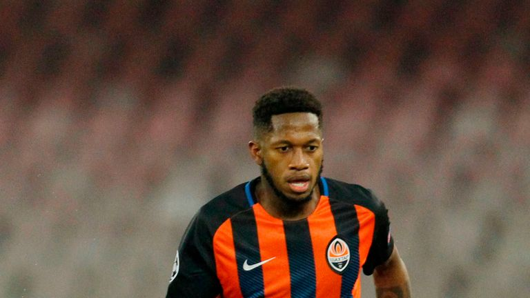Shakhtar Donetsk's Brazilian midfielder Fred controls the ball during the UEFA Champions League Group F football match v Napoli