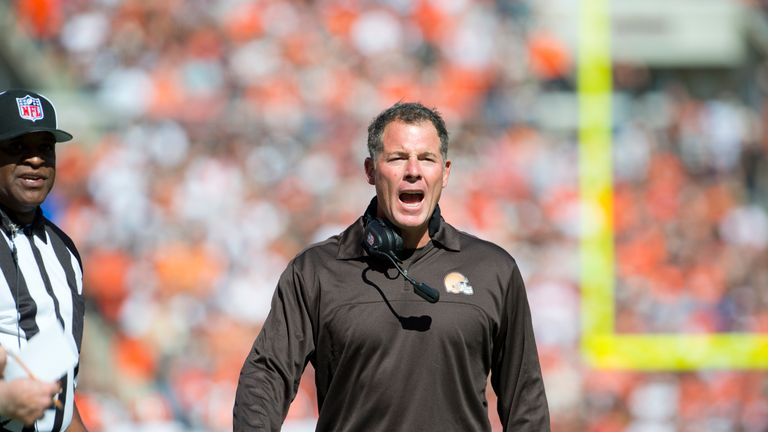 CLEVELAND, OH - SEPTEMBER 9: Head coach Pat Shurmur of the Cleveland Browns during the last quarter of the game against the Philadelphia Eagles at Clevelan